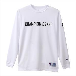 チャンピオン DRYSAVER ロングスリーブTシャツ 19FW C3QB443-010 バスケットボールウェア|matsubarasports