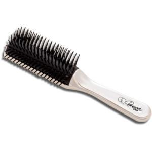 グロスコーム ブロッサ ヘアブラシ クシ 静電気 抑え纏りのある美しい髪へ 美容室 サロン 美容院 床屋 自宅 女性 男性 ヘアーブラシ クロムメッキ くし ら matsucame