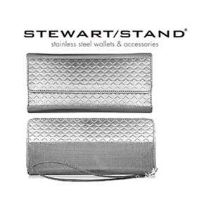 ステンレススチール製ウォレット 長財布 クラッチタイプ ラウンドジッパータイプ スチュワートスタンド|matsucame