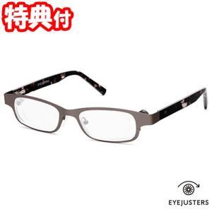 アイジャスターズ 度数可変シニアグラス これ1本 オックスブリッジ リーディンググラス メガネ 眼鏡 めがね 老眼鏡 左右独立調整可能 EYEJUSTERS