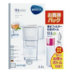 ブリタ浄水器リクエリ+フィル&ゴー ピンクセット