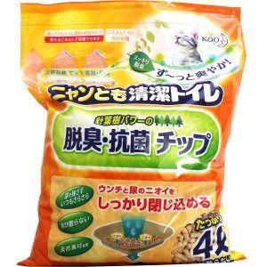 ニャンとも清潔トイレ 脱臭・抗菌チップ 大きめの粒 4L matsuda88