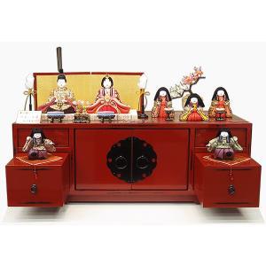 雛人形 柿沼東光作 やよい小筺 箪笥収納飾り 木目込み雛 コンパクト 新柄 おしゃれな ひな人形