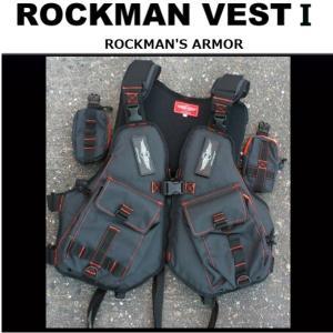 MCワークス rockman Vest 1 ロックマンベスト1 ブラックxオーシャンブルー|matsumoto