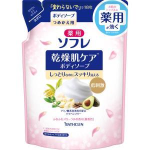 バスクリン 薬用ソフレ 乾燥肌ケアボディソープ つめかえ用 400ml (医薬部外品)|matsumotokiyoshi