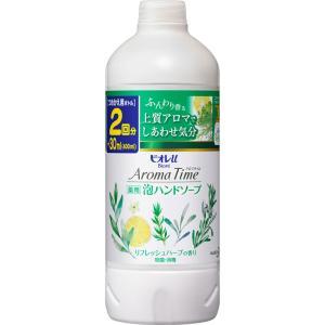 花王 ビオレu アロマタイム 泡ハンドソープ リフレッシュハーブの香り つめかえ用 400ml (医薬部外品)|matsumotokiyoshi