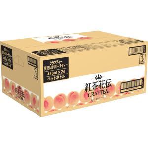 日本コカ・コーラ 紅茶花伝クラフティー贅沢しぼりピーチティーケース 440ml×24|matsumotokiyoshi