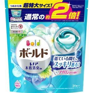 P&Gジャパン ボールドジェルボール3D爽やかプレミアムクリーン詰替 超特大 34個|matsumotokiyoshi