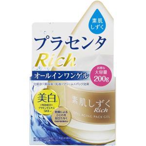 アサヒグループ食品株式会社 素肌しずくリッチ トータルエイジング・オールインワンゲル 200g (医薬部外品)|matsumotokiyoshi