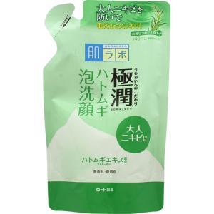 ロート製薬 肌ラボ 極潤ハトムギ泡洗顔 つめかえ用 140mL