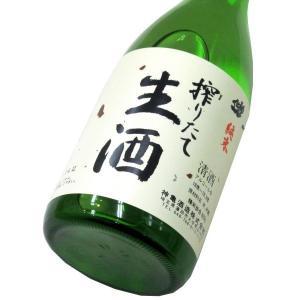 神亀 搾りたて純米生酒(令和2BY) 720ml(1本) クール便 | 神亀/埼玉|matsumotoya