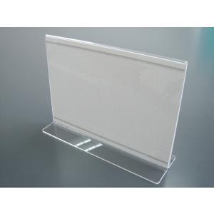 【カードスタンド メニュー立て 透明】メニュースタンド(メニュー立て)T型 B6ヨコ アクリル製  h56701|matsumura