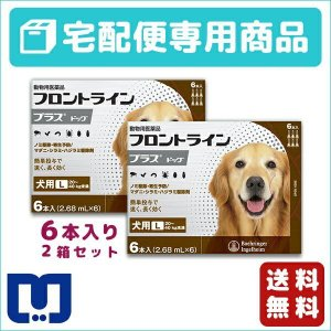 フロントラインプラス 犬用  L (20〜40kg) 6ピペット 2箱セット 動物用医薬品 【宅配便】