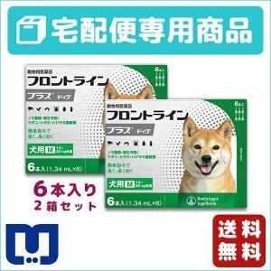 フロントラインプラス 犬用 M (10〜20kg) 6ピペット 2箱セット 動物用医薬品 【宅配便】