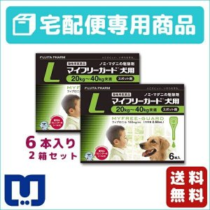 マイフリーガード 犬用 L (20〜40kg) 2.68ml×6ピペット 2箱セット 動物用医薬品 【宅配便】