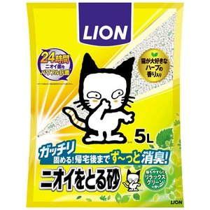 C:LION ニオイをとる砂 リラックスグリーンの香り 5L matsunami