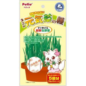 C:ペティオ ネコの元気草の種 15g×5袋入 賞味期限:2022/01/31以降(07月現在) matsunami