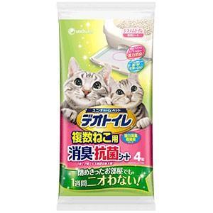 C:ユニチャーム ペット デオトイレ 複数ねこ用消臭・抗菌シート 4枚 matsunami