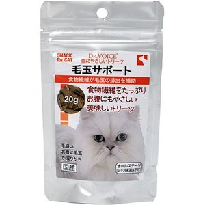 C:ドクターヴォイス 猫にやさしいトリーツ 毛玉サポート 20g 賞味期限:2020/10/10以降(06月現在) matsunami