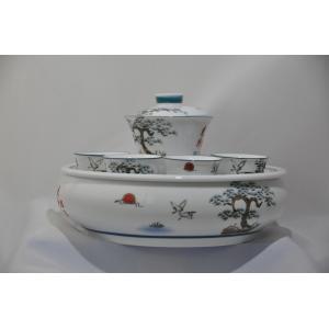 旭日東昇蓋碗セット 手彫り-中国茶を楽しむ為の必要道具|matsurika-jp