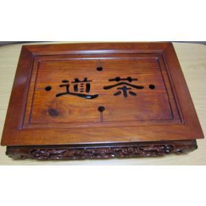 古典茶盤−中国茶を楽しむ為の必要道具 [茶道](大)(四面彫刻)|matsurika-jp