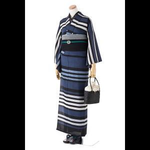 撫松庵の創作 着て見てわかるゆかた 蘭と百合|matsuriya-sonami