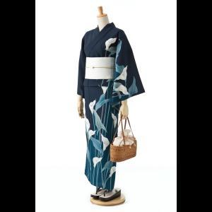 撫松庵の創作 着て見てわかるゆかた 天竺葵(ターコイズ)|matsuriya-sonami