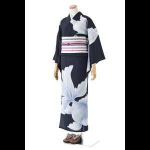 送料無料 撫松庵の創作 着て見てわかるゆかた 絵羽金魚(濃コン) matsuriya-sonami