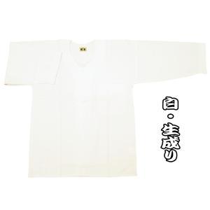 送料無料 綿紬(白・生成り) 大人ダボシャツ 男女兼用 義若オリジナル|matsuriya-sonami