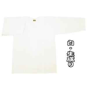 送料無料 綿紬(白・生成り)巾広サイズ(3L) 大人ダボシャツ 男女兼用 義若オリジナル|matsuriya-sonami