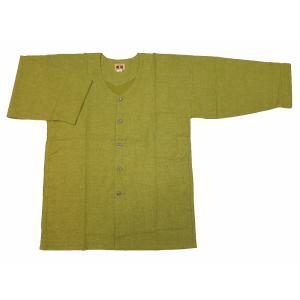 義若のむら染め(抹茶グリーン) 大人ダボシャツ 男女兼用 義若オリジナル|matsuriya-sonami