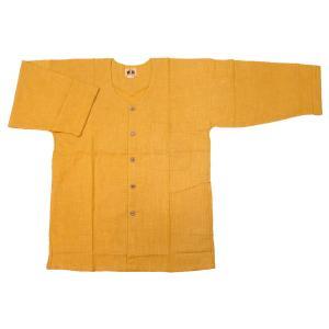 義若のむら染め(カラシ) 大人ダボシャツ 男女兼用 義若オリジナル|matsuriya-sonami