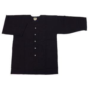 送料無料 義若のむら染め(かすり黒) 大人ダボシャツ 男女兼用 義若オリジナル|matsuriya-sonami