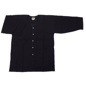 義若のむら染め(古典黒) 大人ダボシャツ 男女兼用 義若オリジナル|matsuriya-sonami