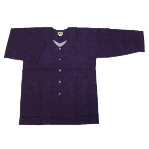 義若のむら染め(古代紫)超肥満サイズ(4L) 大人ダボシャツ 男女兼用 義若オリジナル|matsuriya-sonami