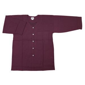 義若のむら染め(ボルドー)巾広サイズ(3L) 大人ダボシャツ 男女兼用 義若オリジナル|matsuriya-sonami