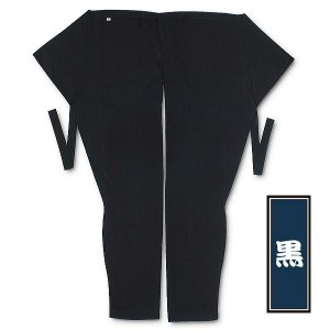 東京江戸一・股引(黒) 巾広丈長 大人用 ※|matsuriya-sonami