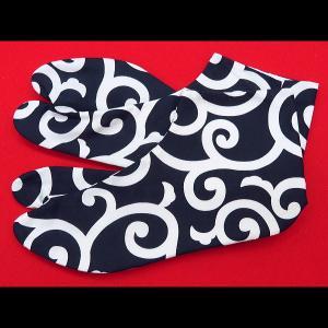 送料無料 荒波に龍(紺)お洒落な和柄足袋 義若オリジナル|matsuriya-sonami