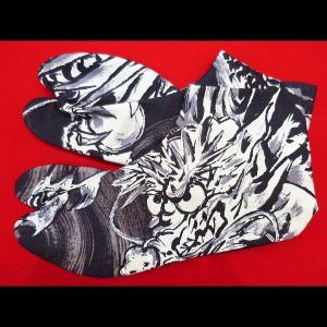 送料無料 激龍・墨絵調(ボルドー)お洒落な和柄足袋 義若オリジナル|matsuriya-sonami