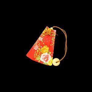 金彩牡丹桜(赤) 和柄腰下げ巾着|matsuriya-sonami