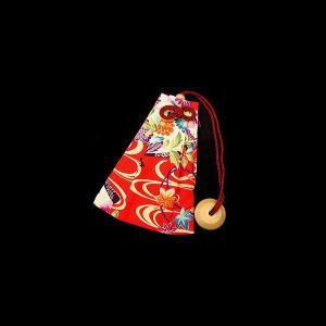 流水に華扇(赤) 和柄腰下げ巾着|matsuriya-sonami