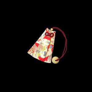 牡丹と菊(赤) 和柄腰下げ巾着|matsuriya-sonami