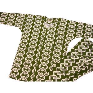 吉原つなぎ(抹茶緑)大人鯉口シャツ単品 男女兼用 義若オリジナル matsuriya-sonami