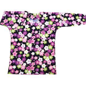 雲どり疋田に鶴(紺) 大人鯉口シャツ単品 男女兼用 義若オリジナル matsuriya-sonami