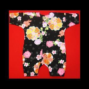送料無料 舞妓桜(黒)0号サイズ(80) お祭りロンパース 義若オリジナル matsuriya-sonami