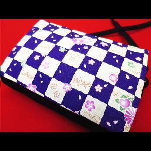 花市松 (紫) 和柄お祭り万能ポシェットショルダー|matsuriya-sonami