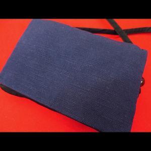 綿紬(紺) 和柄お祭り万能ポシェットショルダー|matsuriya-sonami