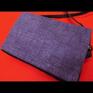 義若のむら染め(古代紫) 和柄お祭り万能ポシェットショルダー|matsuriya-sonami
