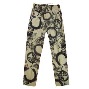 送料無料 福だるまと松(茶グレー)股引き型ズボン|matsuriya-sonami