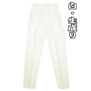 送料無料 こだわりの綿紬 義若の股引き型ズボン (白・生成り)巾広サイズ(3L) 男女兼用 義若オリジナル matsuriya-sonami
